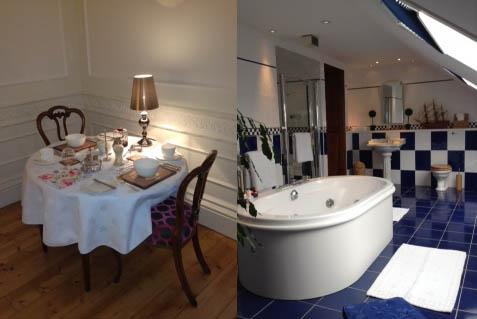 Dining Area & Bathroom