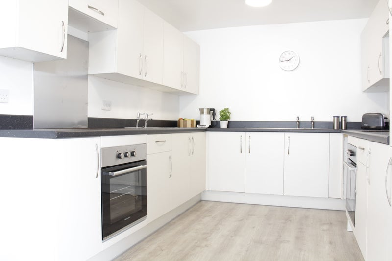 Double kitchen with 2 sinks, 2 hobs, 2 fridges, 2 ovens