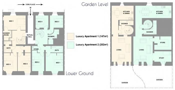 20 York Place: Floor plan
