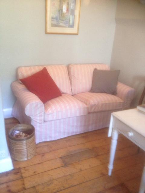 Sofa in Alcove of Kitchen