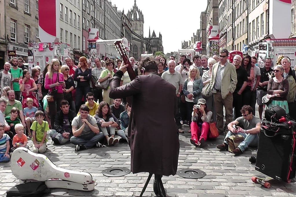 In August the whole city transforms in an open stage for the Fringe festival.