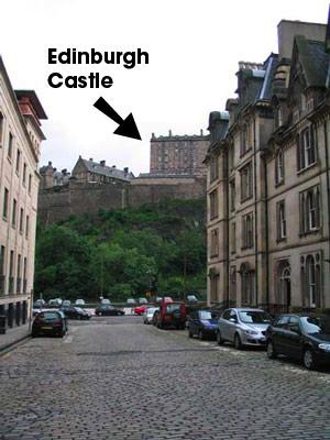 Cornwall Street (and Edinburgh Castle)