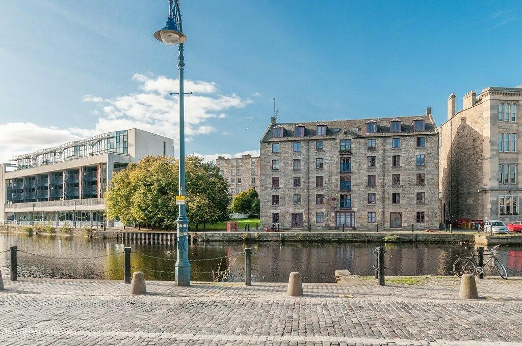 The beautiful 'Shore' district of Leith
