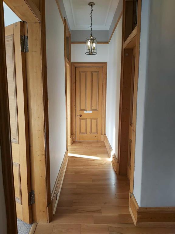 Corridor connecting bedrooms