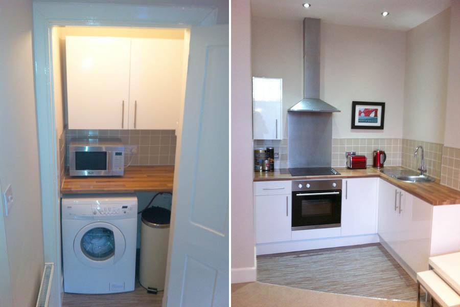Open Plan Kitchen & Utility Cupboard