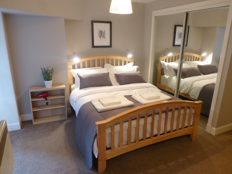 Bedroom with king-size double bed; an additional single bed is available on request