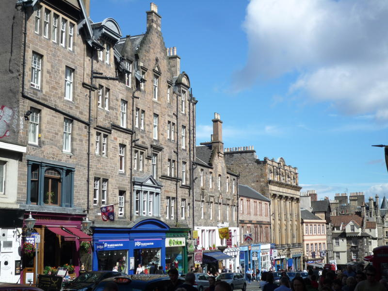 The Royal Mile: this is the stretch that's just up towards Edinburgh Castle from St Mary's Street