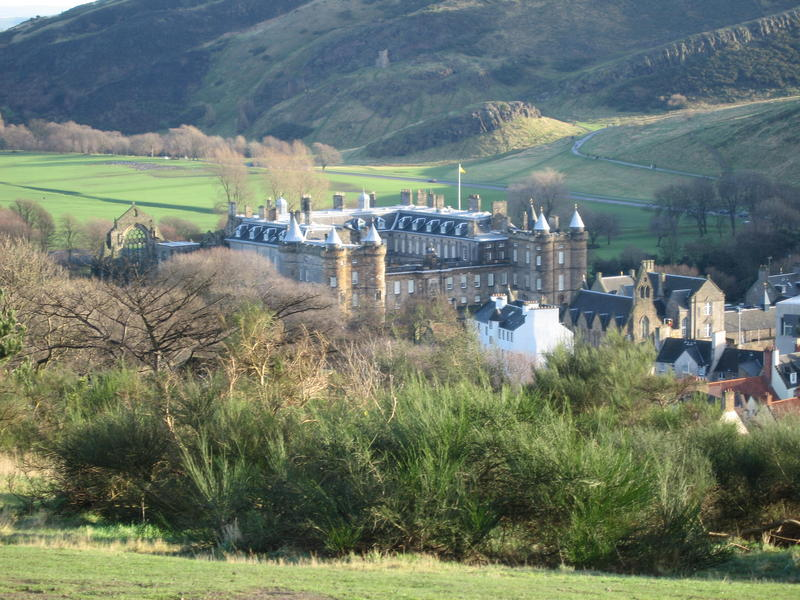 The Palace of Holyroodhouse from Calton Hill