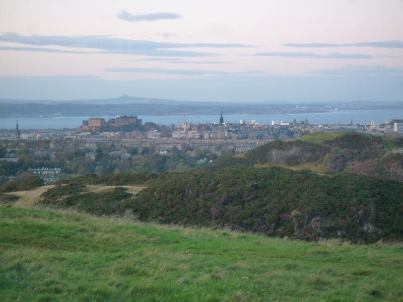 View to Edinburgh Castle, from the Braid Hills