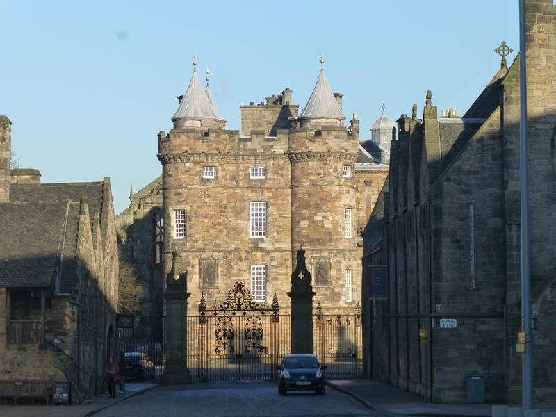 The Palace of Holyrood House is a few steps away