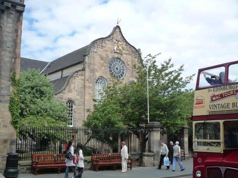 The historic Canongate Church, which is over the road from Bull's Close