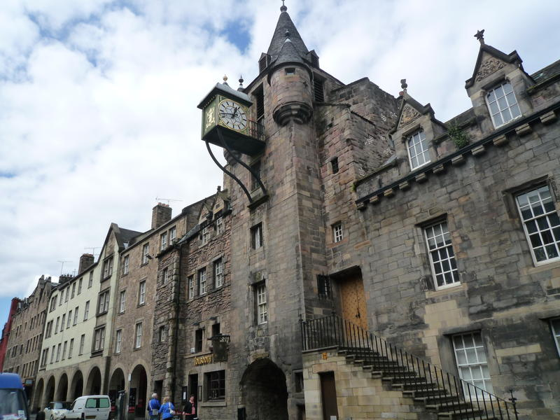 The Canongate with clock tower