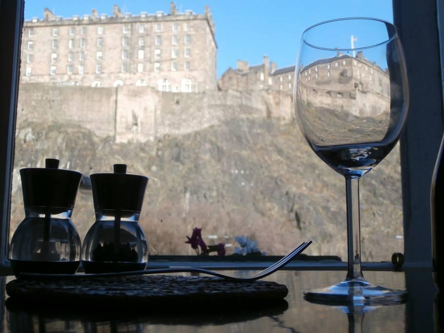 View to Edinburgh Castle