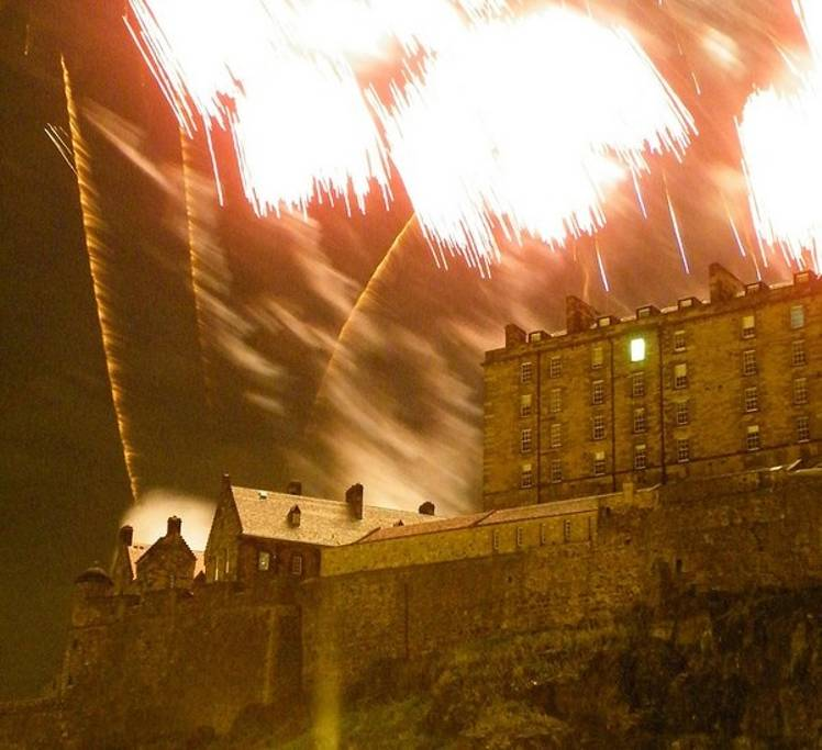 Edinburgh Festival Firewords as viewed from the drawing room