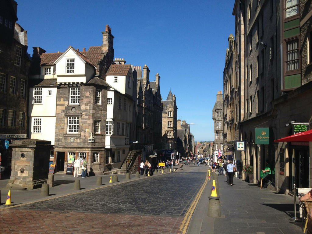 The Royal Mile, one minute walk from the flat