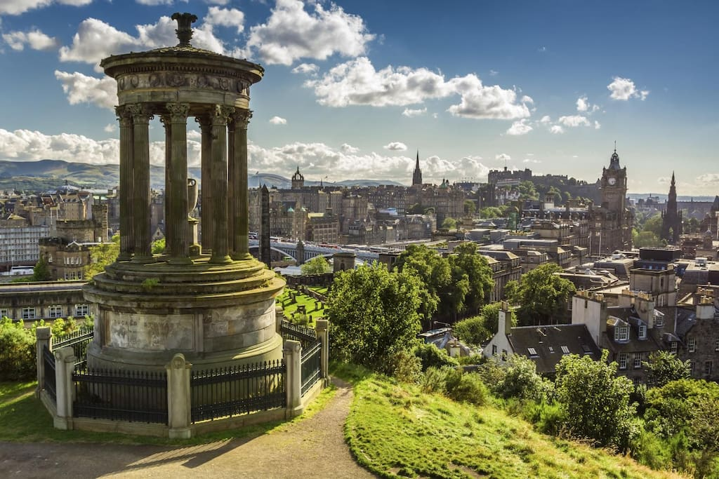 A view onto the city from Calton Hill