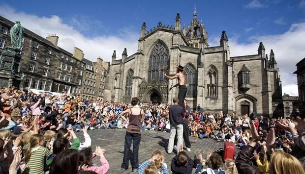 Parliament Square during the Edinburgh Festival