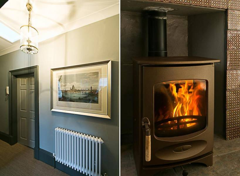 Hallway & Fireplace