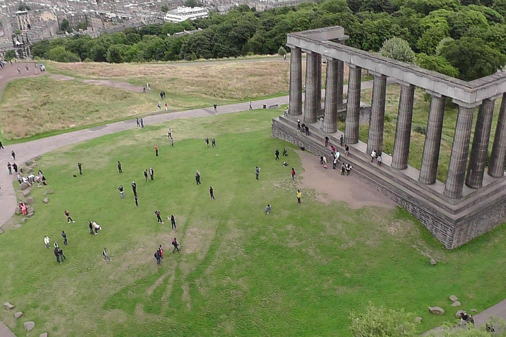 Calton Hill at the east end of teh city is perfect for an evening stroll